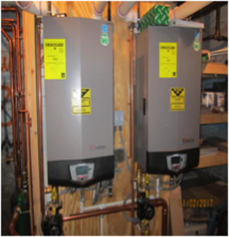New forced hot water furnaces servicing the entire house