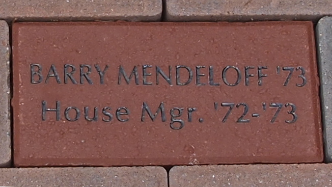 Sample brick with 2-line engraving
