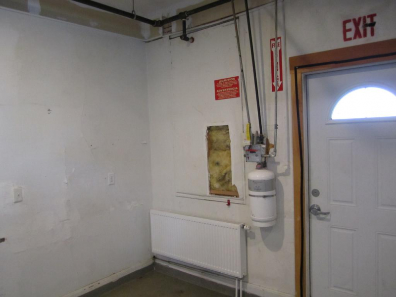 Southwest Corner (Note Radiator & Fire Suppression Equipment)