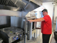 Chef Sean Reidy loves his new kitchen