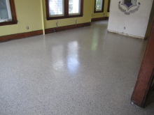 New epoxy dining room floor