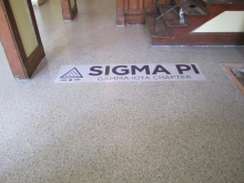 Insignia in the floor