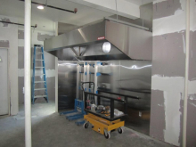 The new exhaust hood